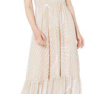 Women's V-neck Chiffon print dress